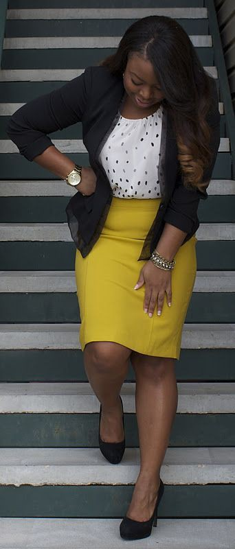 Professional attire curvy women, Business casual