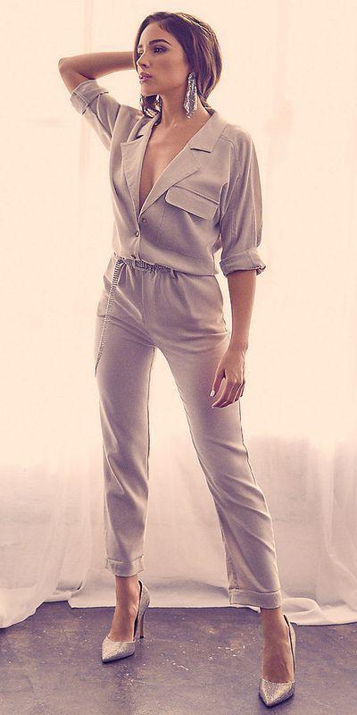 Olivia culpo utility jumpsuit, Olivia Culpo