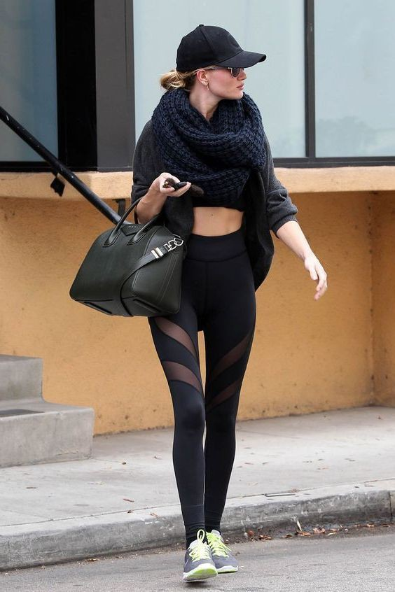 Gym leggings outside the gym