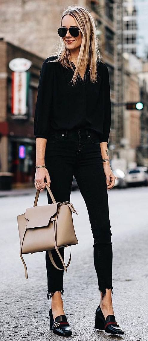 Get stylish look with nude bag style, Street fashion