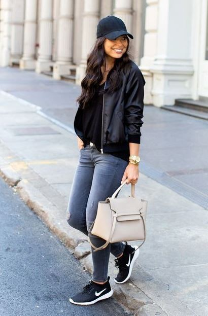 Wonderful tips for black sneakers outfit, Casual wear