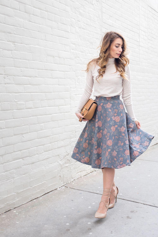 Never got before offer midi skirt ootd, Floral Midi