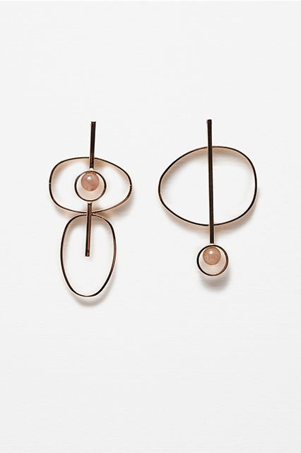 stainless steel Asymmetrical Earrings, Fashion accessory