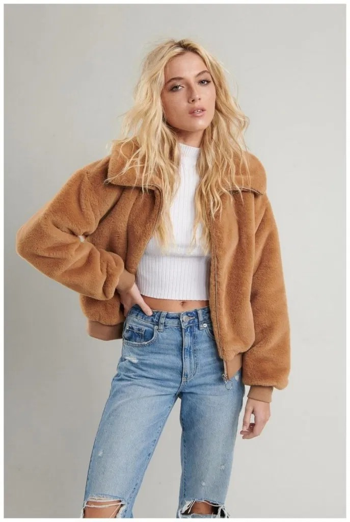 Get your daily dose fur clothing, Flight jacket
