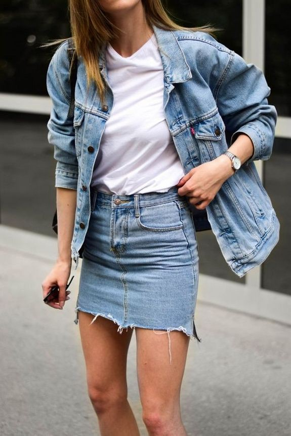 Europe most awaited denim outfit, Falda – Jeans