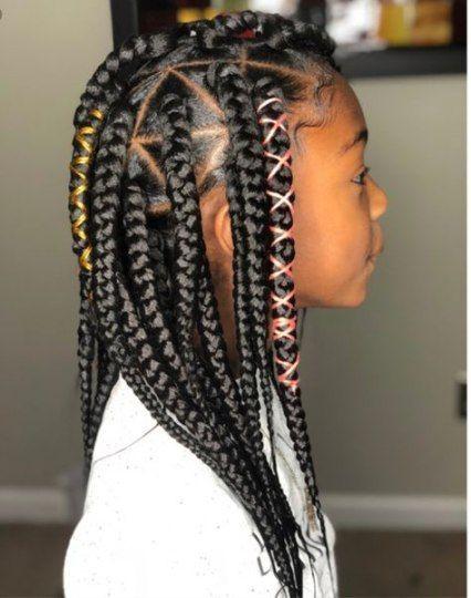 Triangle box braids kids