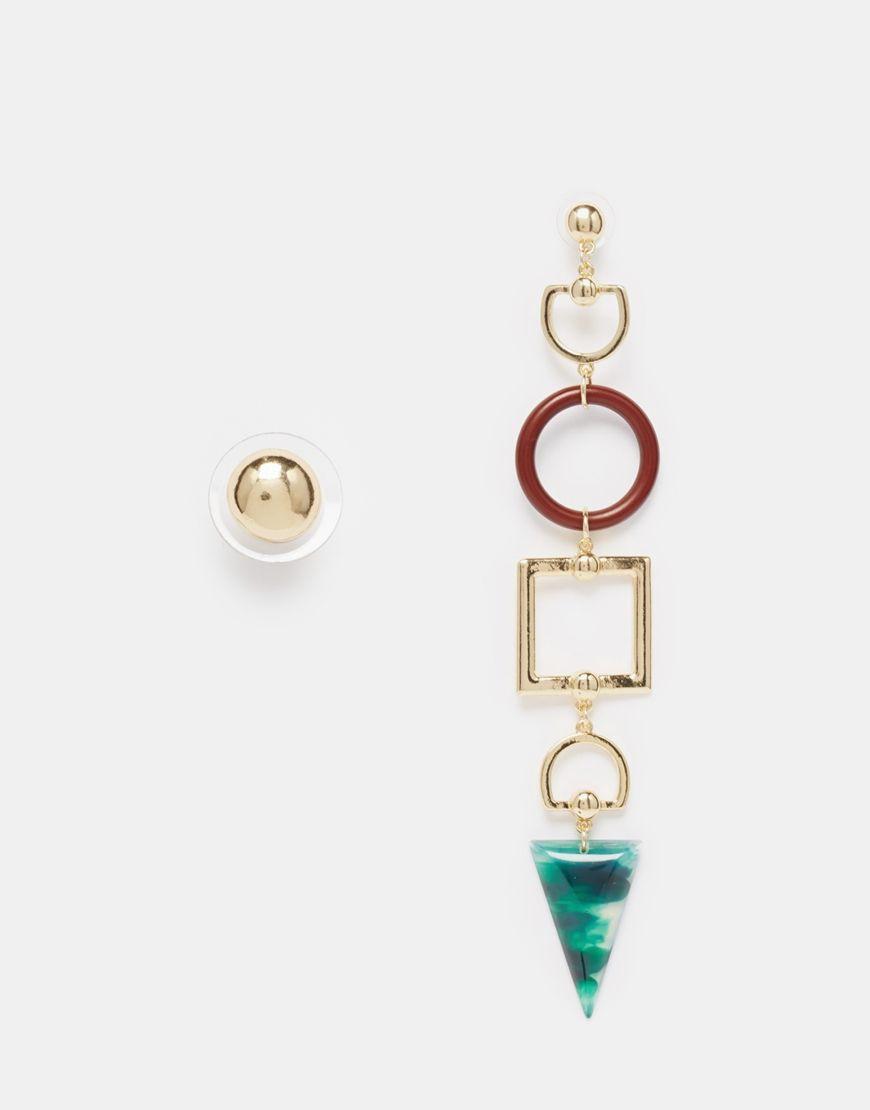 Asymmetrical Earrings Ideas, MyXL Earrings Gold, ASOS.com
