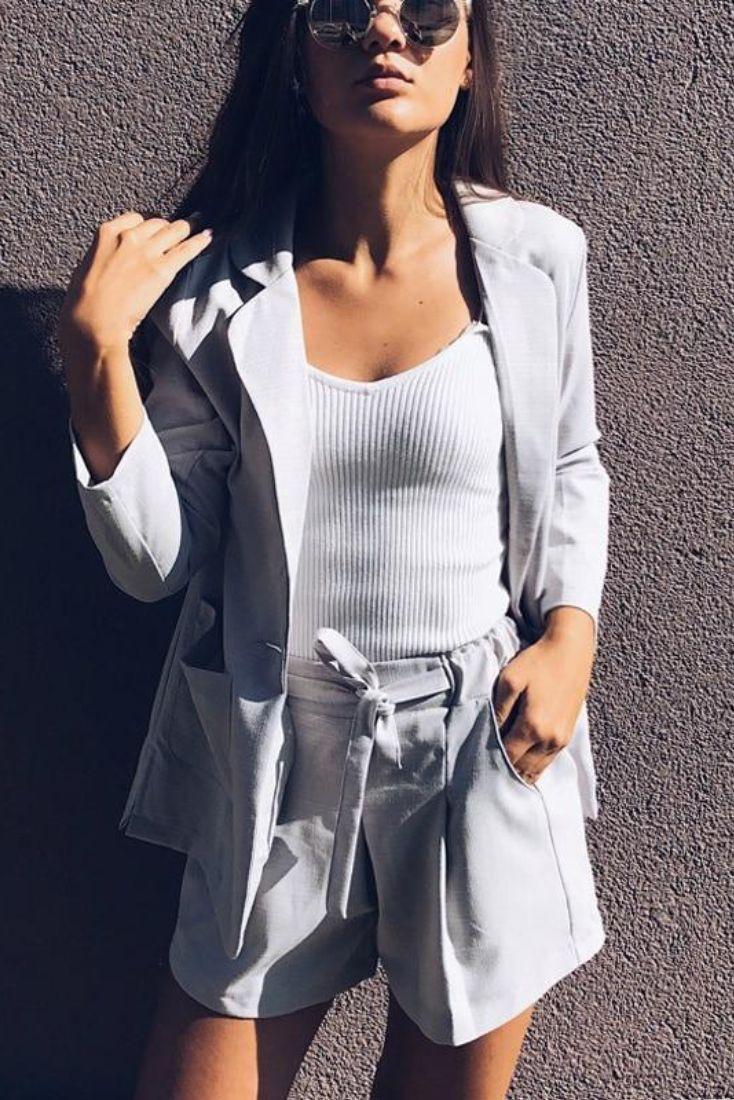 2 piece white linen suit womens