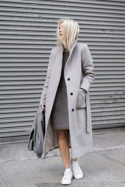 Your one stop gray coat fashion, Trench coat