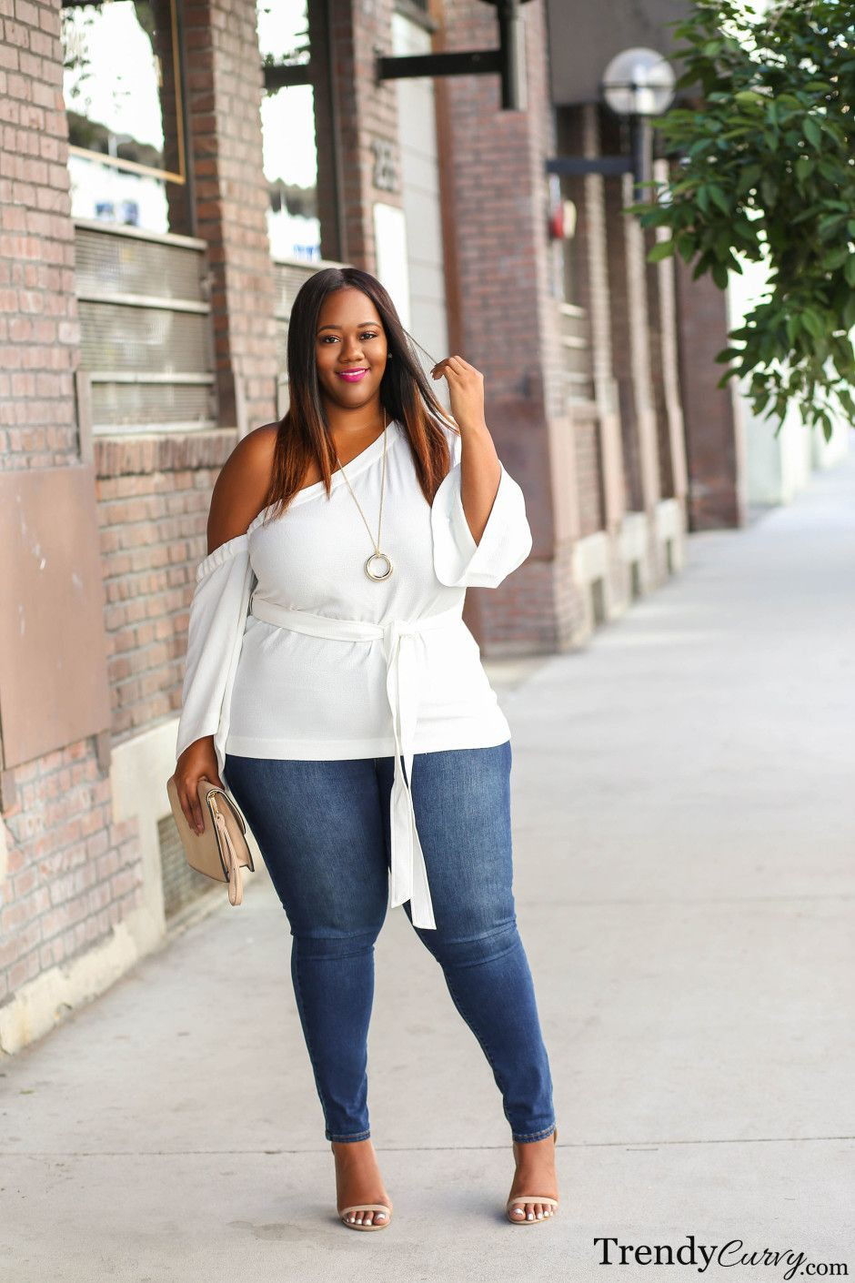 Outfit casual para mujeres plus size