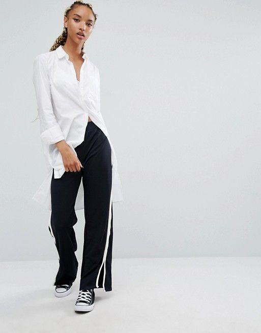 Style wide leg track pants