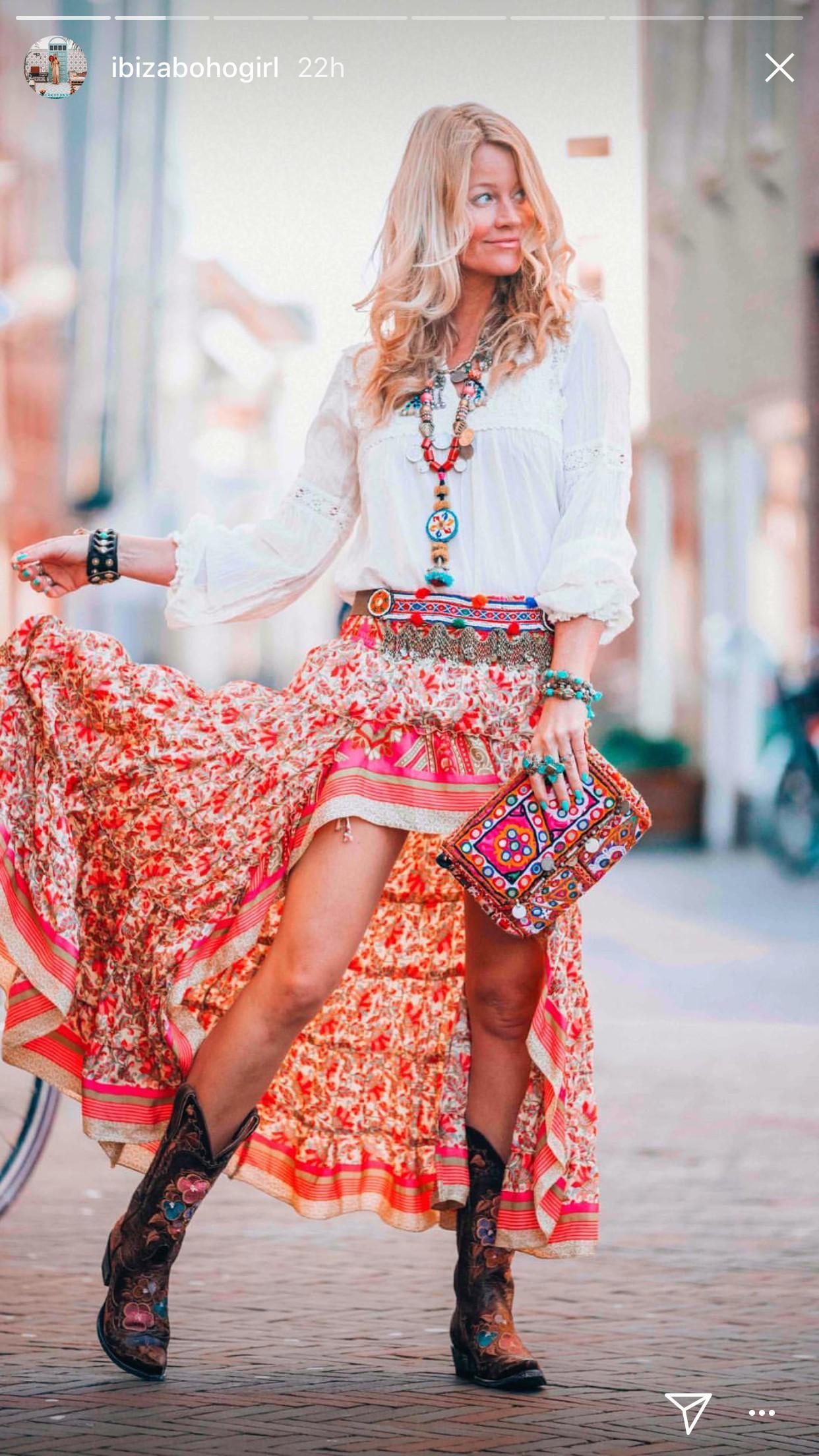 Cowboy boots outfit boho, Bohemian style