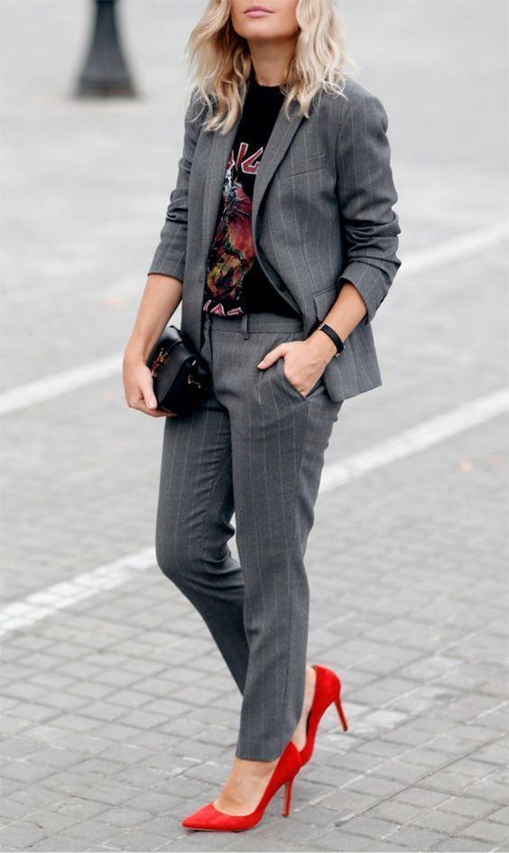 Trending and girly outfit ideas look com terninho, Street fashion