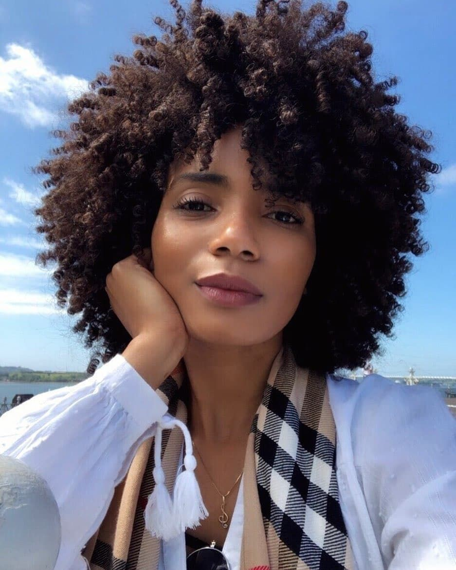 All purpose black hair, Curly Girl Method