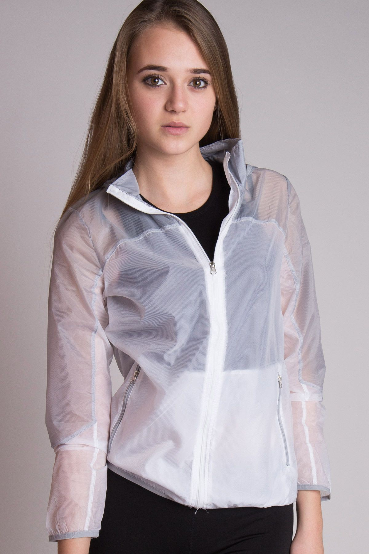 White Windbreaker Outfits