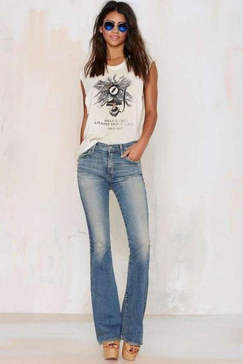 Outfits With Bootcut Jeans, Casual wear, Low-rise pants