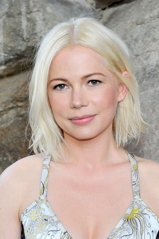 Hot and trendy bleach blonde bob, Human hair color