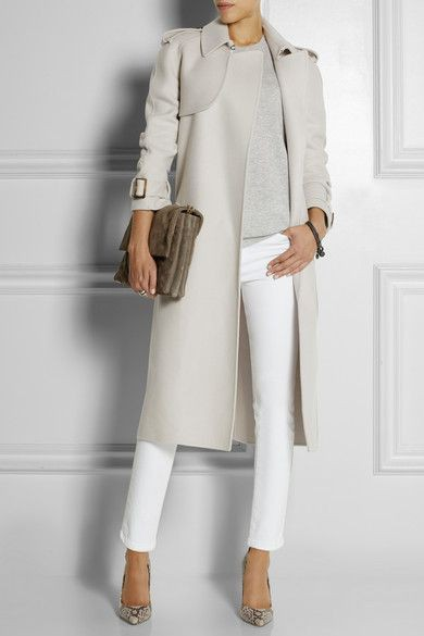 Light grey trench coat, Trench coat