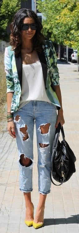 Outfits With Yellow Shoes, Casual wear, Jean jacket
