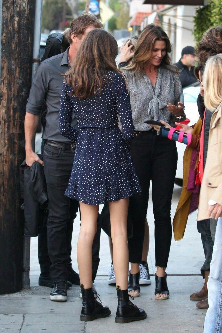 Casual kaia gerber outfits, Combat boot