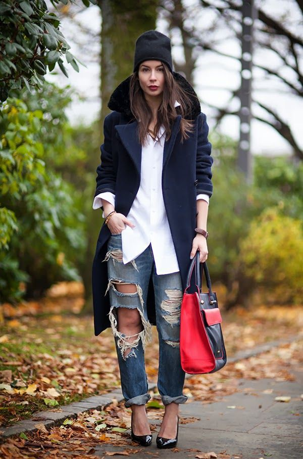 Great and mind boggling boyfriend coat outfits, Casual wear