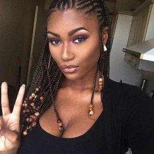 Cornrow hairstyles black women, Box braids