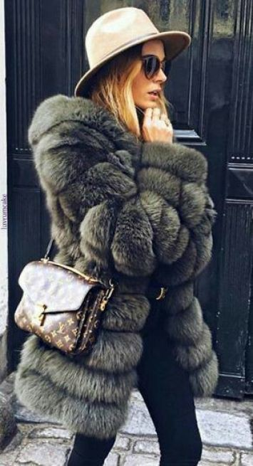 Louis vuitton faux fur coats