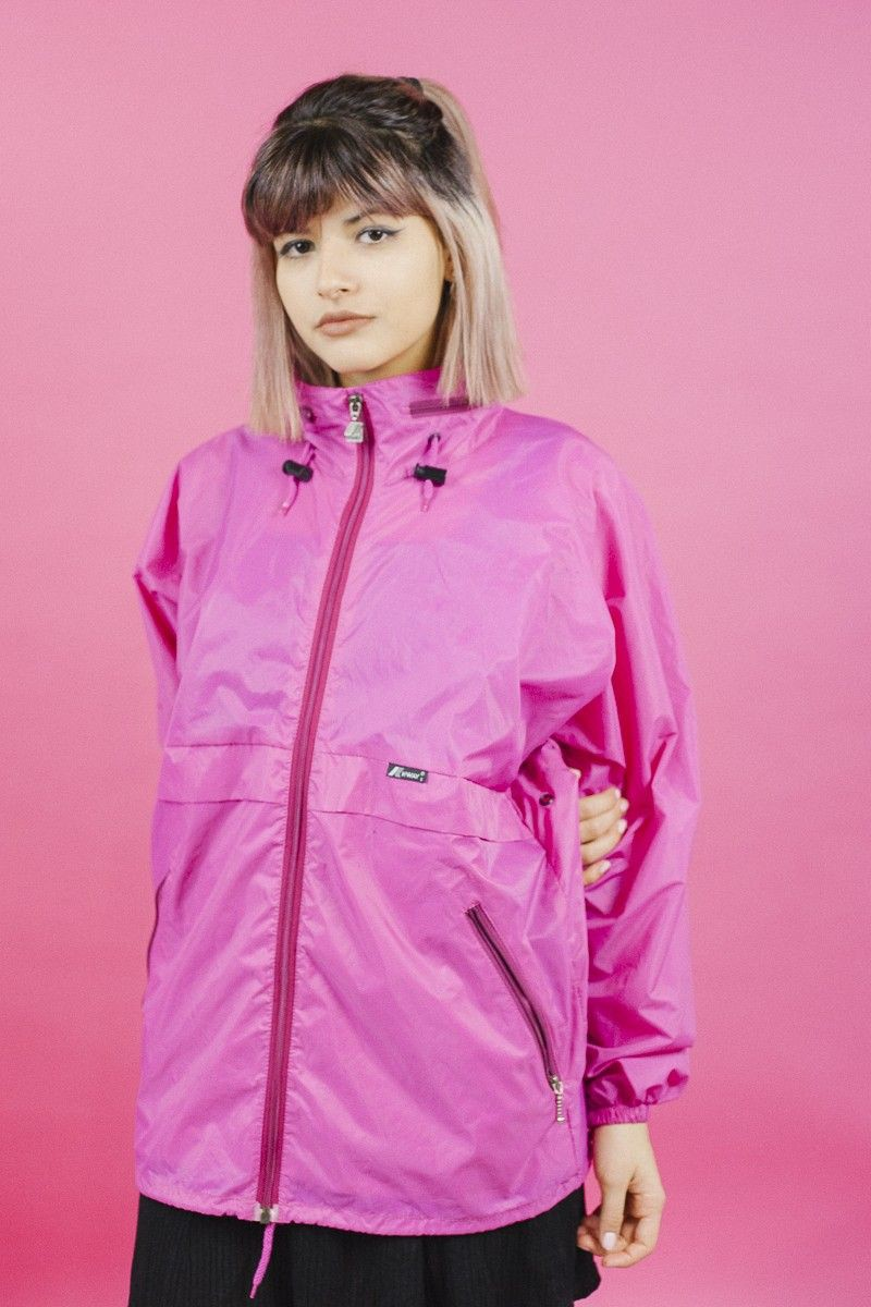 Pink Windbreaker Outfits