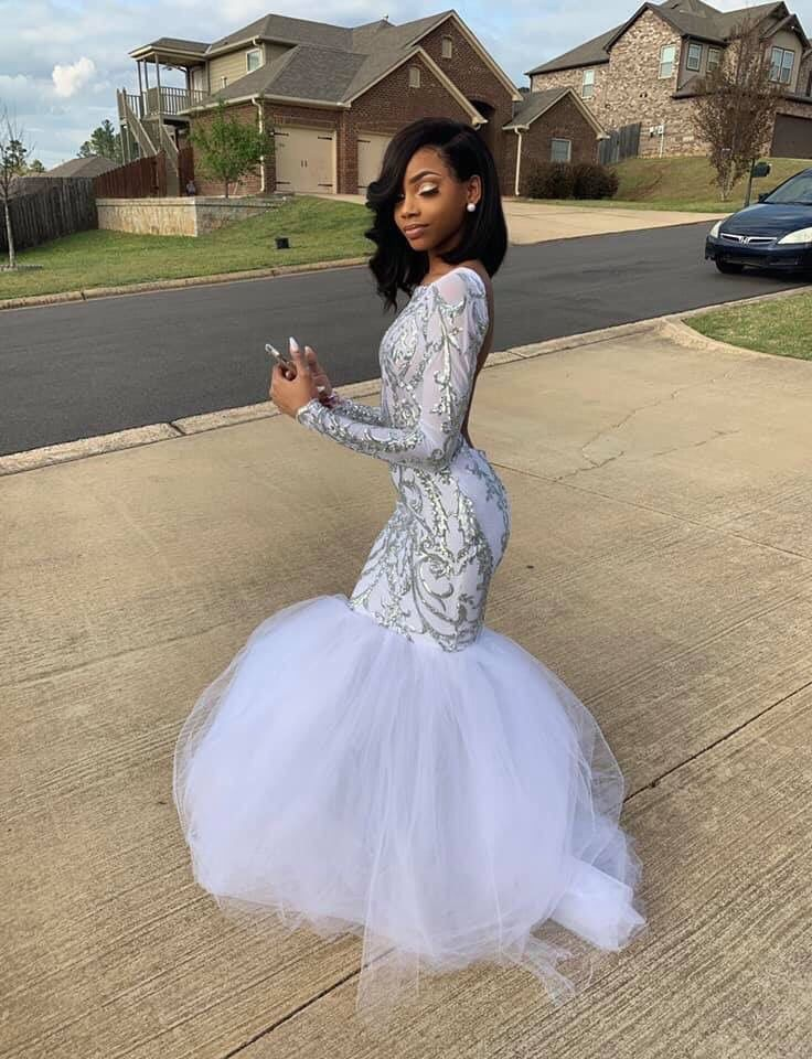 Black Girls Prom Outfits, Wedding dress, Evening gown