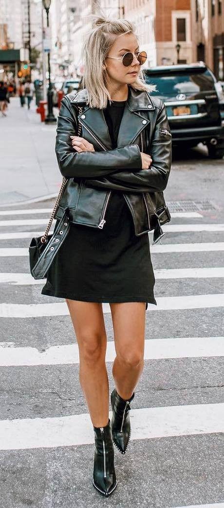 US most desired fashion model, Leather jacket