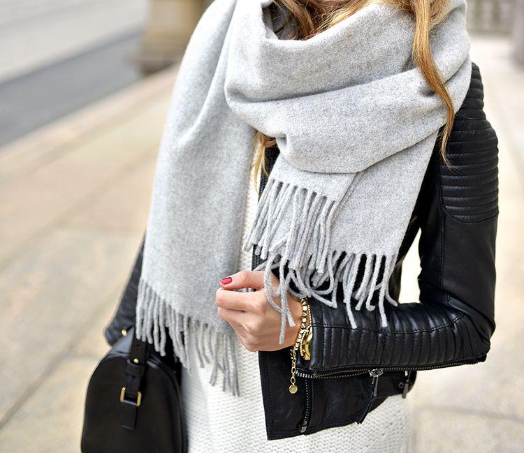 Acne studios canada scarf light grey