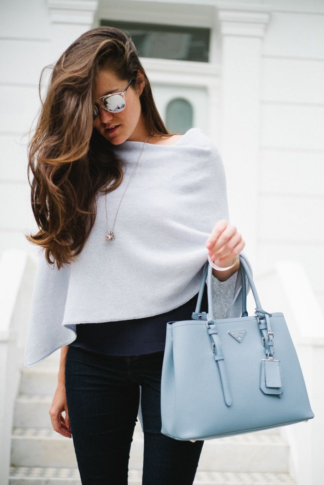 Light blue bag outfit, Casual wear