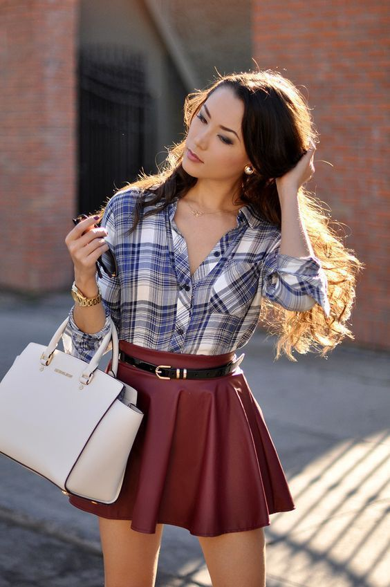 Casual style dressing fashion model, Skater Skirt