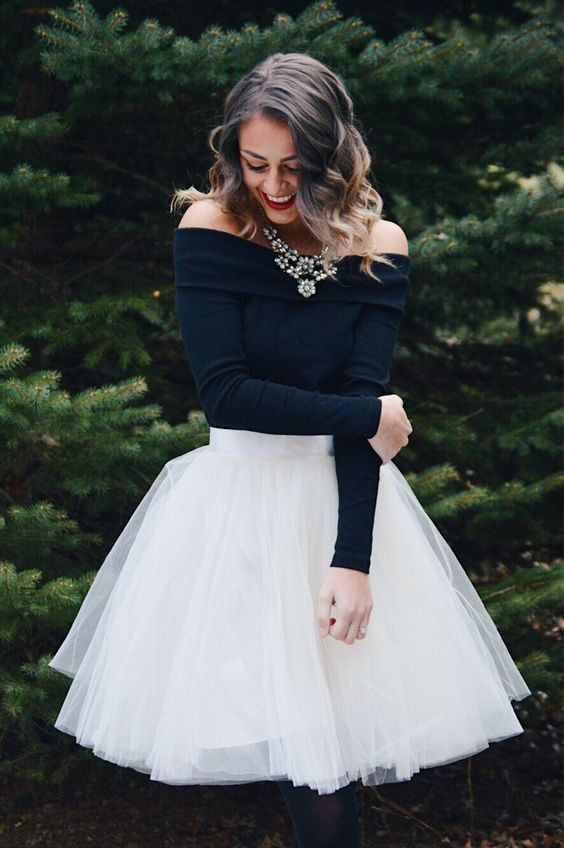 Skirt christmas party outfit ideas