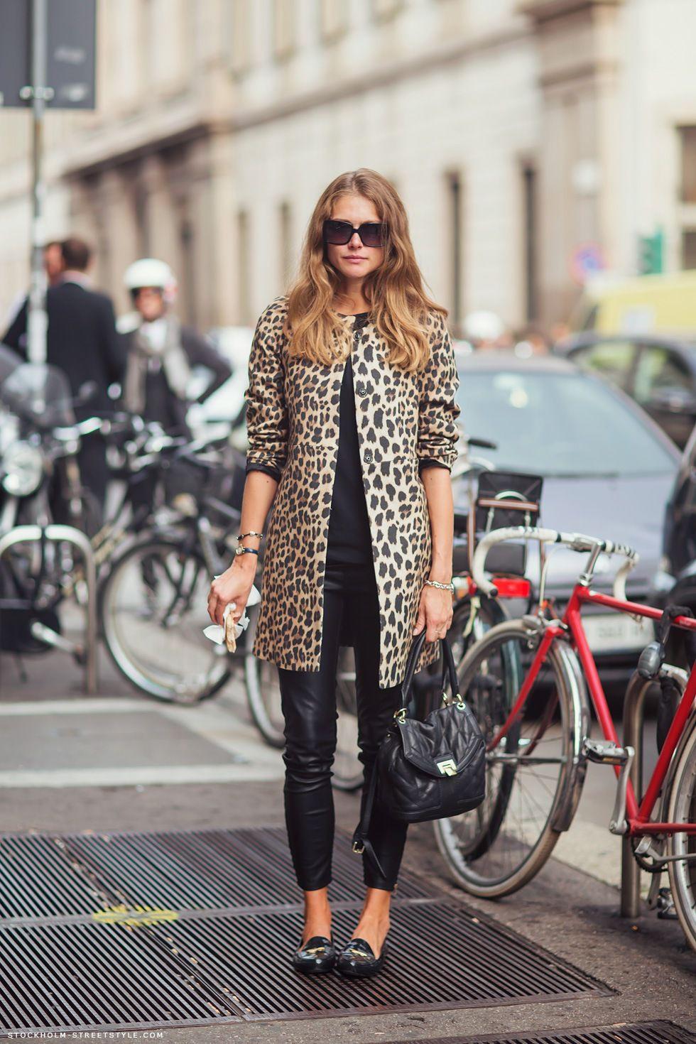 Wearing leopard print coat, Animal print