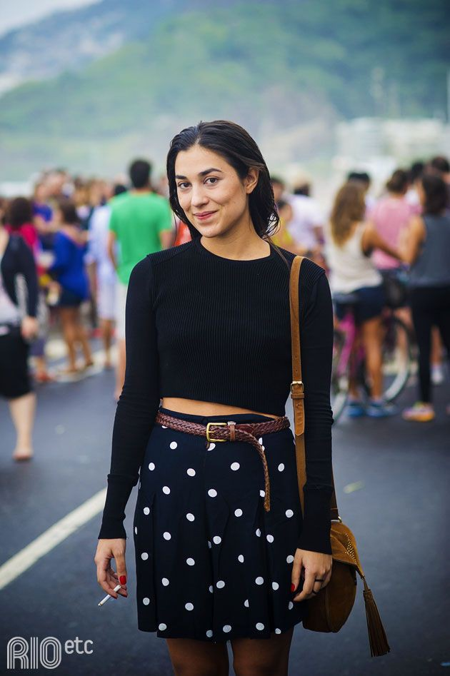 Skirt Outfits For College, Polka dot