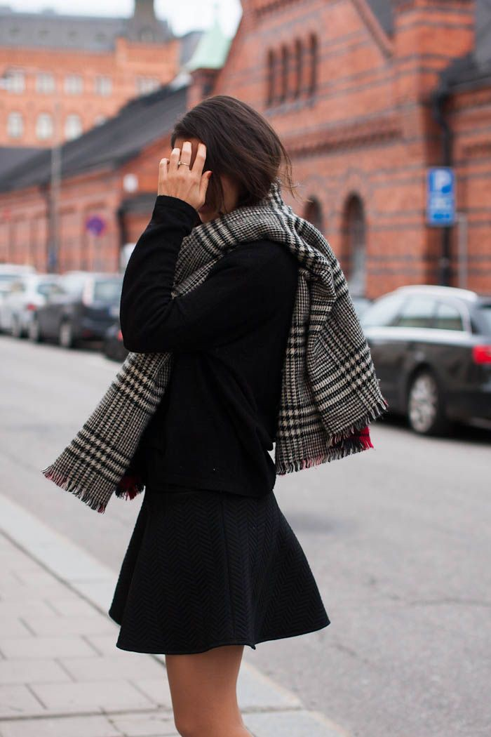 Dresses With Scarves, Fashion blog, Plaid Jacket