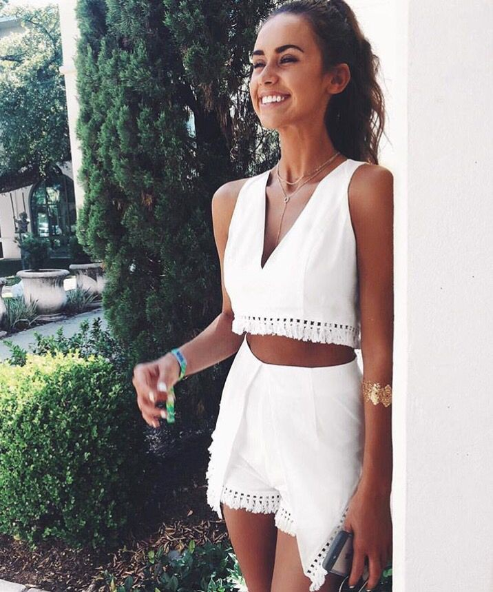 White two piece romper, Romper suit