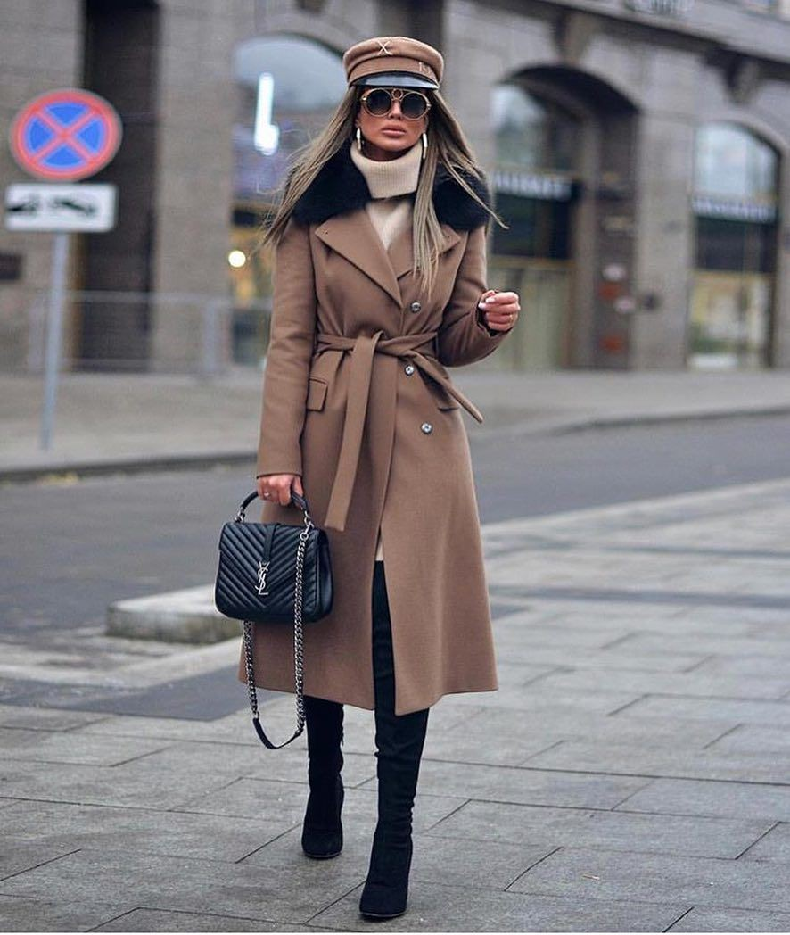 Trench coat Brown Outfits With boots