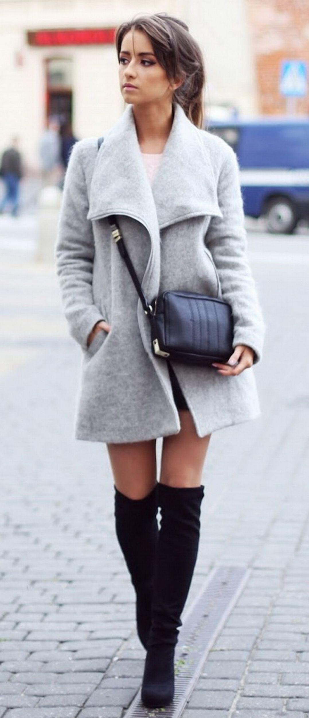 Finest manteau avec cuissarde, Thigh-high boots