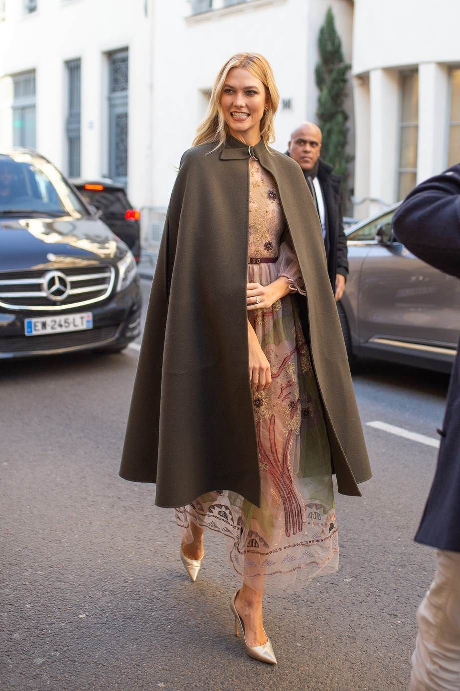 Celebrity fashion week street style paris