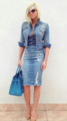 Latest and best of 2019 denim outfit, Casual wear
