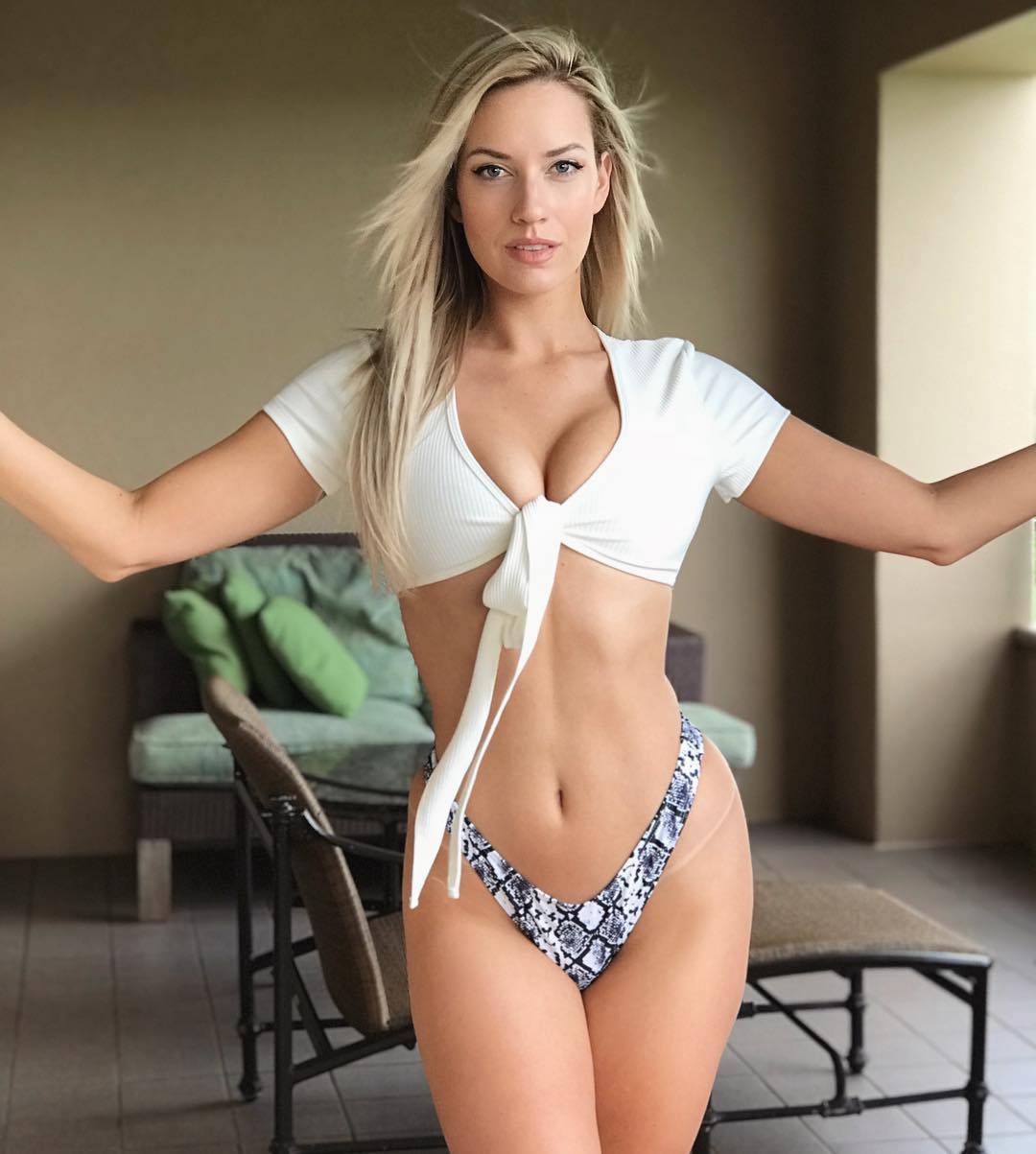 Cute and fascinating paige spiranac bikini, Golf stroke mechanics
