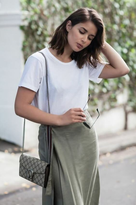 Find out the khaki skirt fashion, Casual wear