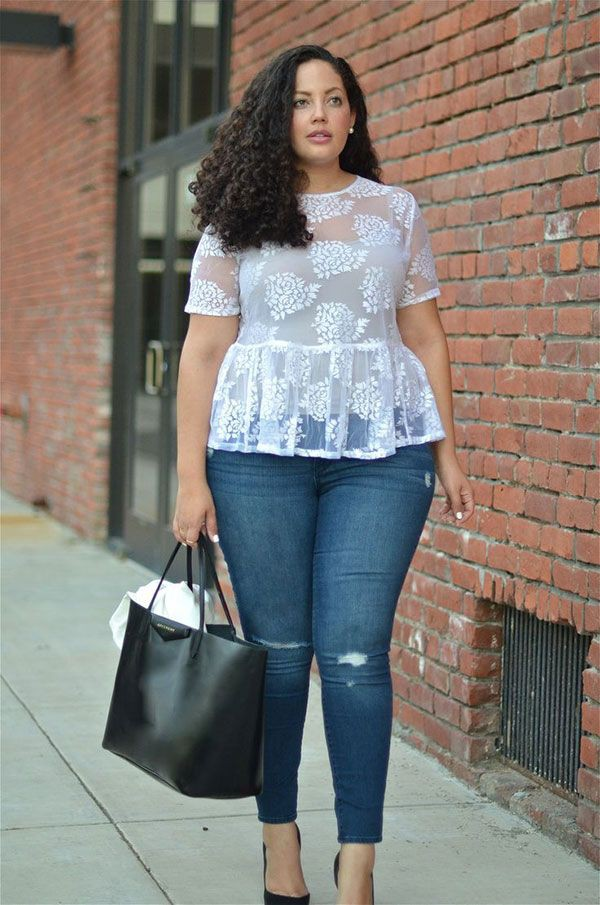 Wear a sheer blouse with jeans