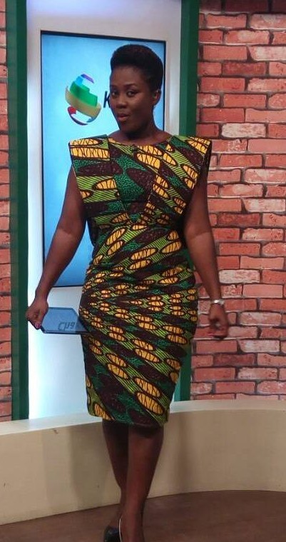 Ghana Kaba Styles, African wax prints, Cocktail dress