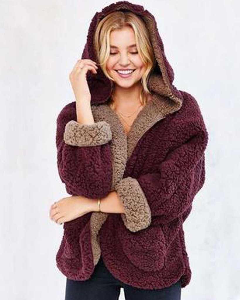 Chaqueta lana gorda mujer, Polar fleece