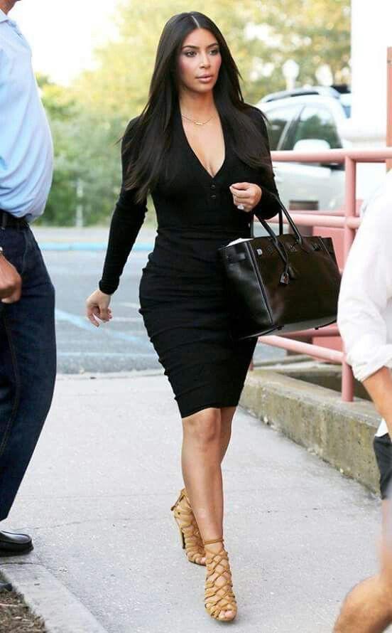 Kim kardashian wearing black dress