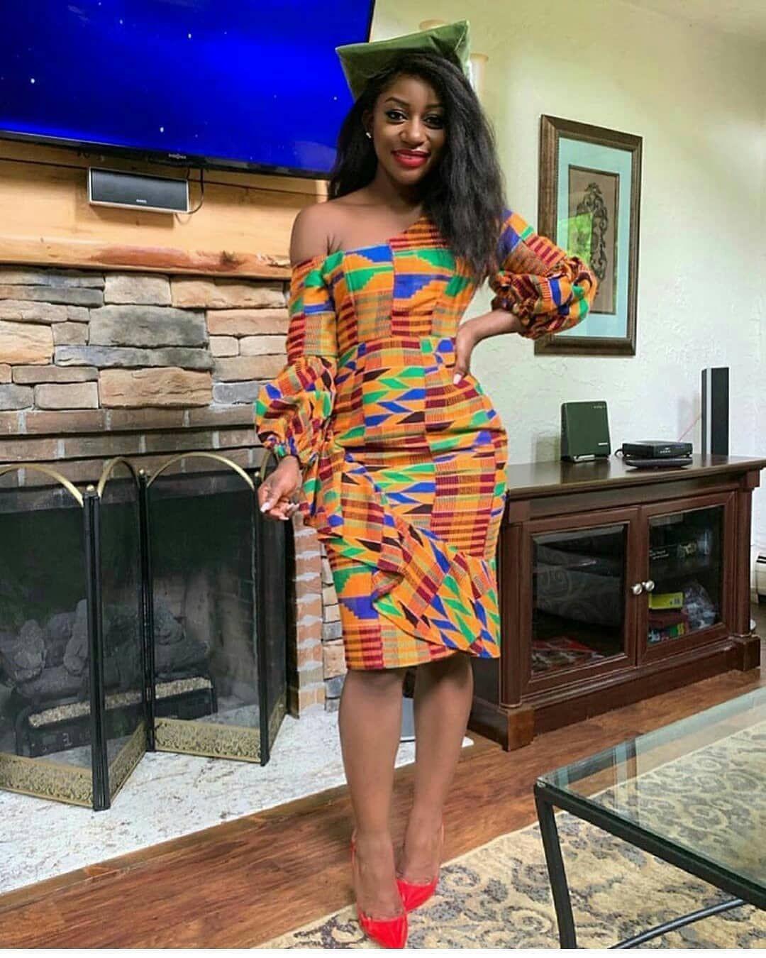 Beautiful african dresses styles 2019, Kente cloth