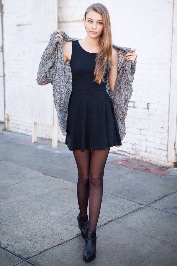 Must check these dress with tights, Little black dress